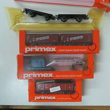 4 x Güterwagen Kran etc Märklin Primex 4539 4556 4596 4598 Spur H0 OVP (UW )
