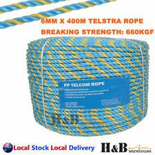 6mm X 400m Telstra Rope PARRAMATTA Rope Coils Breaking Strength 595kg T0245