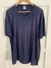 New listing 80s Vintage Paper Thin Blank Plain Navy Blue T-Shirt Distressed Thrashed Sz Xl