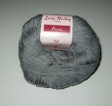 LOT of 10 balls of GREY Louisa Harding AIMEE Cotton Cashmere knitting yarn #13