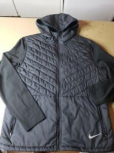 Mens Nike AeroLayer Running Jacket Water/Weather Proof #CJ5474 010 SZ L