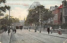 BR97458 newport road shewing university cardiff tramway wales