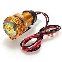 PRISE USB MOTO 12 VOLT A LED Anodisé de Couleur QUAD BATEAU HARLEY CHOPPER NEW