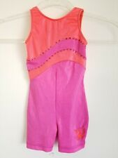 Gk Elite CXS Gymnastics Leotard Child X-small Carly Patterson Pink Made in USA