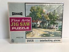 "Vintage Saalfield Fine Arts Jigsaw Puzzle ""Country Store"" Over 500 Pieces Sealed"