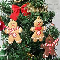 12Pcs Christmas Tree Gingerbread Man  Hanging Pendant Xmas Tree Decor Ornament