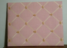 Pink Fabric w/ teddy bears Memory/Picture Board/ Wall Decoration:  Pottery Barn