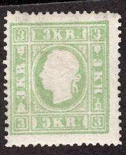 AUSTRIA 1858/9 STAMP Sc. # 8 TYPE III ORIGINAL GUM P: 14 1/2