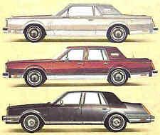 1983 LINCOLN BROCHURE -MARK VI COUPE & SEDAN-CONTINENTAL SEDAN-LINCOLN TOWN CAR