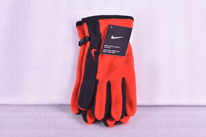 Men's Nike Fleece Sport Gloves, Red with Black, One Size