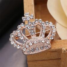 #6016 Rhinestone Brooch Crown Brooches Scarves Clip Shawl Buckle