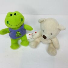 Lot Bundle 2 Build A Bear Mini Plush Velvet Teddy 2006 Happy Go Lucky Frog 2008