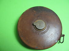 Antique B. C. Reilly Co. Leather bound 100 ft. tape measure Made in England