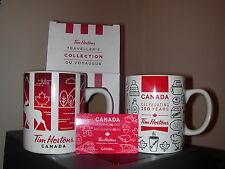 Tim Hortons ( 2 ) Different CANADA Mugs w/ Activated Gift Card
