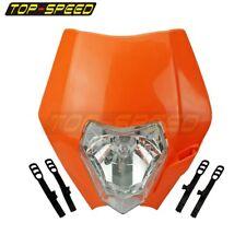 Orange Naked Bike Enduro Headlight Fairing Head Lamp For Harley Streetfighter