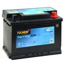 Batterie démarrage voiture Fulmen FK600 START AND STOP AGM 12v 60AH 680A