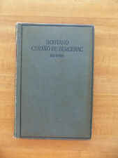 Cyrano de Bergerac ~ Edmond Rostand, Intro by  Ed Kuhns, 1899 French, Hardcover