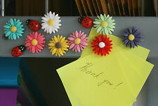 Daisy fridge,memo,decor strong magnets.Set of 11. A little gift idea !