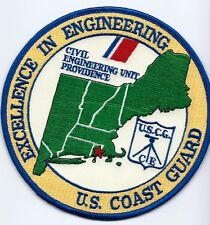 """USCG United States Coast Guard Patch """"excellence in engineering"""" 5 inch diameter"""