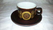 Denby Pottery Arabesque Samarkand Pattern Tea Coffee Cup and Saucer MARKED