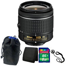 Nikon 18-55mm f/3.5 - 5.6G VR AF-P DX Lens Kit for Nikon D3300 DSLR Camera
