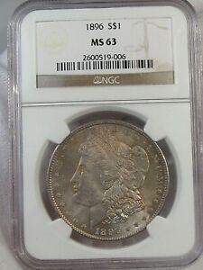 BU Toned 1896 Morgan Dollar NGC MS63.  #3