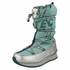 LADIES HI TEC WATERPROOF WHITE BLUE WINTER THERMAL SNOW BOOTS NEW MOON 200