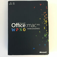 MS MICROSOFT OFFICE MAC 2011 HOME AND BUSINESS MIT DVD W6F-00030