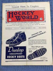 1936 HOCKEY WORLD Field Hockey United Kingdom Magazine, 4 Pence, ANCIENT FIND !!