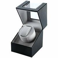 Automatic Single Watch Winder Wood Display Box Organizer Japan Mabuchi Motor