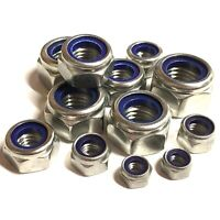 10 1/4 5/16 3/8 7/16 1/2 5/8 UNF NYLON INSERT NYLOC LOCKING NUTS A2 STAINLESS