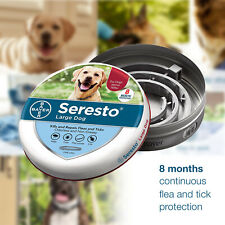 Bayer Seresto Flea and Tick Collar for Large Dog over 18 lbs Fast Free Ship