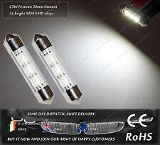 LED SMD 36mm Festoon C5W 239 242 Xenon White License Number Plate Lights Bulbs