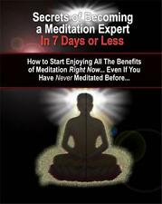Secrets Of Becoming Meditation Expert Ebook CD $5.95 + Resale Rights Ships Free