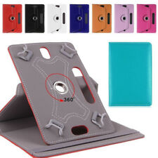 FT- CO_ Faux Leather Tablet PC Case Cover 360 Degree Rotating Stand Universal Ho