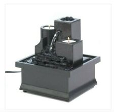 TempleSteps water Fountain with Tealight Candle holder Relaxing indoor table top