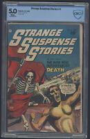 Strange Suspense Stories #4 CBCS 5.0 White Pages not CGC Fawcett Comics 1952