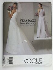 Vogue Vintage Sewing Pattern Vera Wang Bridal Gown Size 12-14-16 circa 1998