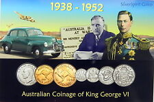 1938-1952 AUSTRALIAN COINAGE of GEORGE VI MINT Australian Coin Set