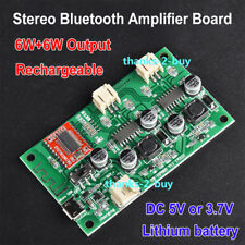 DC 5V Wireless Bluetooth Receiver 6W*2 Audio Power Amplifier Board Module 18650