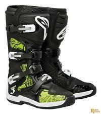 Alpinestars Tech 3 Leather Motorcycle Boots Swirls Black/Green 6 US 201307-169-6