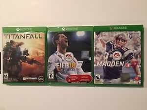 FIFA18 With Russia World Cup Update 2018 New, Titanfall, Madden 17 Used Lot Of 3