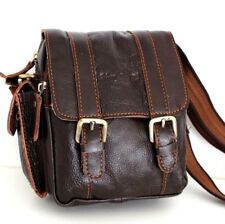 Genuine real Leather Shoulder Belt Bag Messenger vintage small man woman tote 2