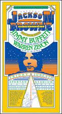 Jackson Browne Jimmy Buffett Warren Zevon 1978 San Jose Concert Poster