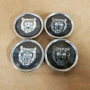 Jaguar Wheel Hub Cap Center Caps Badge Emblem MNA6249 Grey Set of 4 OEM