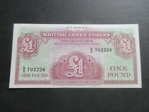 GREAT BRITAIN ARMED FORCES SPECIAL VOUCHERS - 4th SERIES, £1 - aUNC 2