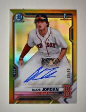2021 Bowman Chrome Prospects Auto Gold Refractor Blaze Jordan /50 - Boston Red S