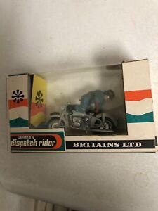 BRITAINS LTD 9679 GERMAN Dispatch Rider Mip MOTORCYCLE  w/ BOX