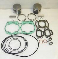 1991-1995 Kawasaki 650 SC Jet Ski Top End Rebuild Kit Pistons Gaskets Bearings