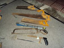 Antique Vintage hack saw hand saw collectible tool lot
